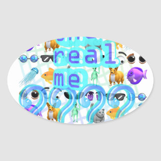 The Real Me Oval Sticker