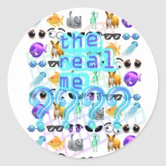 The Real Me Round Sticker