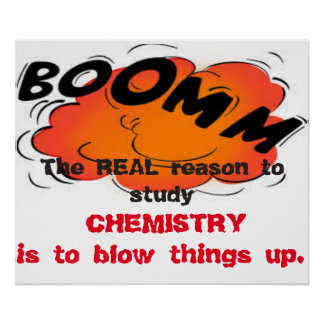 The Real Reason to Study Chemistry Poster