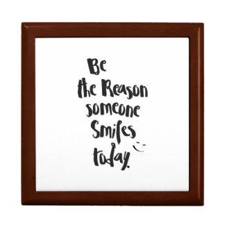 The Reason Someone SmilesToday, Quote Calligraphy Gift Box