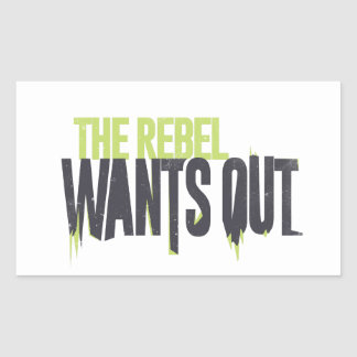 The Rebel wants Out Rectangular Stickers
