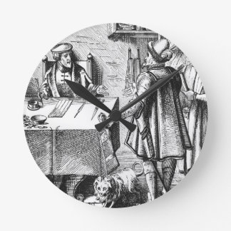 The Receiver of Taxes, after a woodcut in 'Praxis Wallclock