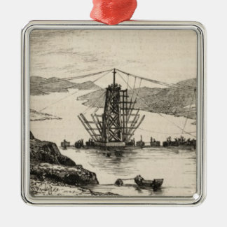 The recent tour of the Viceroy of India in Silver-Colored Square Ornament