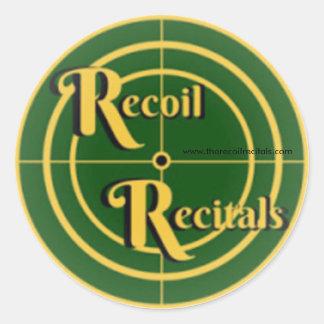 "The Recoil Recitals Official Logo Sticker 3"""