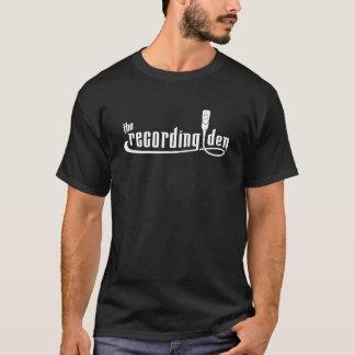 The Recording Den - Men's White on Black T-Shirt