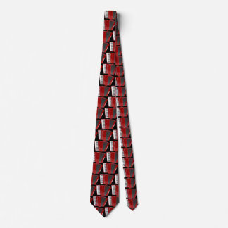 The red accordion tie