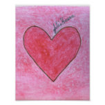 The Red And Pink Valentine Heart By Julia Hanna Poster