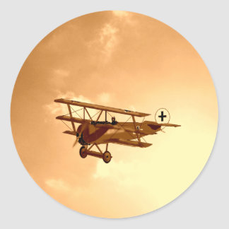 The Red Baron Classic Round Sticker