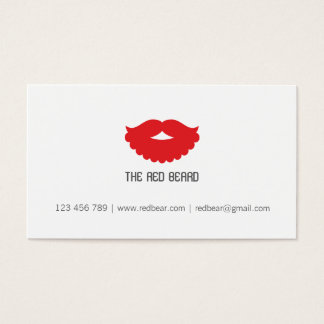 The red beard business card