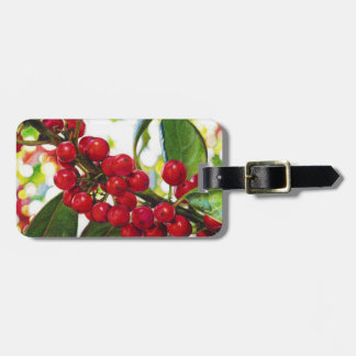 The Red Berries art print Luggage Tag