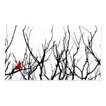 The Red Bird by Leslie Peppers Business Card Templates
