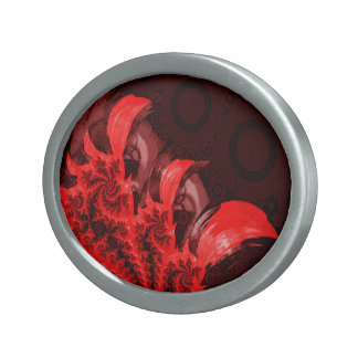 The Red, Black, and Bladed Garra del Diablo Oval Belt Buckle