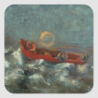 The Red Boat, 1905 Square Sticker