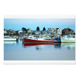 The Red Boat Floating On The Water, Wells Maine Photo