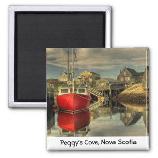 The Red Boat, Peggy's Cove, Nova Scotia Square Magnet