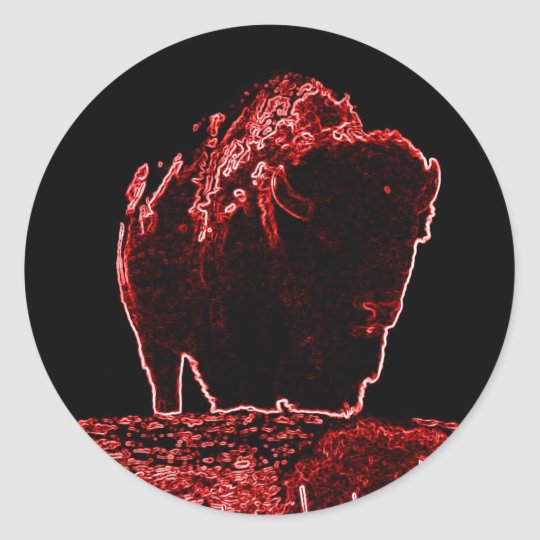 The Red Buffalo Collection Classic Round Sticker