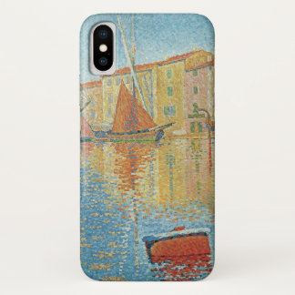 The Red Buoy by Paul Signac, Vintage Pointillism iPhone X Case