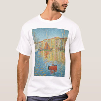 The Red Buoy by Paul Signac, Vintage Pointillism T-Shirt