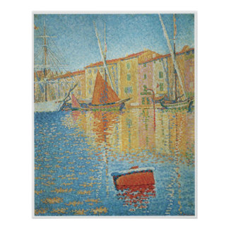 The Red Buoy St Tropez Paul Signac Print
