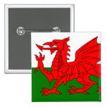 The Red Dragon [Flag of Wales] Button