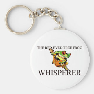 The Red-Eyed Tree Frog Whisperer Basic Round Button Keychain