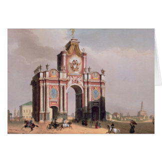 The Red Gate in Moscow Card