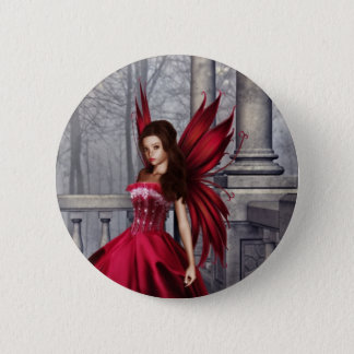The Red Glamour Fairy 2 Inch Round Button