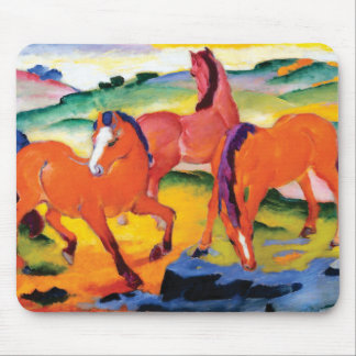 The Red Horses by Franz Marc Mouse Pad