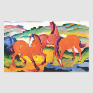 The Red Horses by Franz Marc Sticker