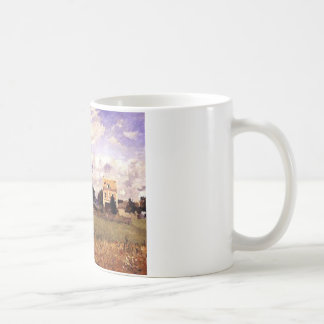 The Red House by Camille Pissarro Coffee Mug
