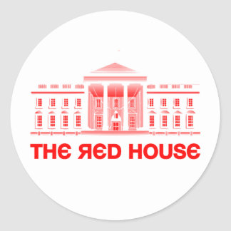 The Red House Classic Round Sticker