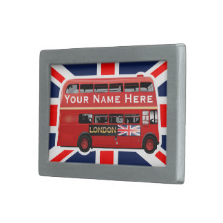 The Red London Bus Belt Buckle