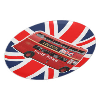 The Red London Bus Plate