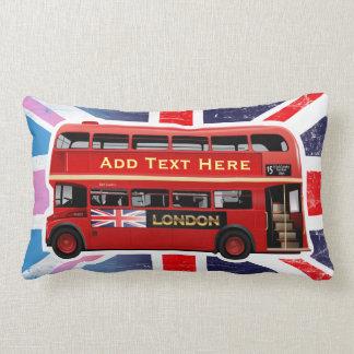 The Red London Double Decker Bus Lumbar Pillow
