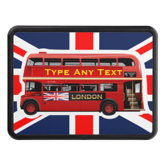 The Red London Double Decker Bus Trailer Hitch Cover