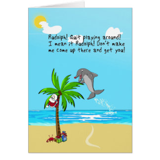 the Red-Nosed Dolphin Card