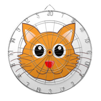 The Red-Nosed Orange Cat Dartboard