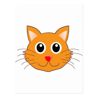 The Red-Nosed Orange Cat Postcard