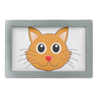 The Red-Nosed Orange Cat Rectangular Belt Buckles