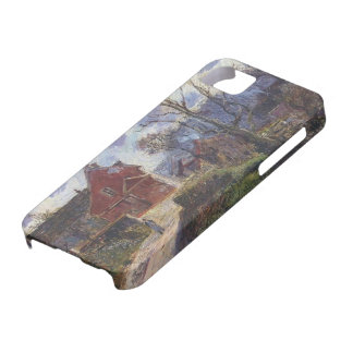 The red painted house by Gustave Loiseau iPhone 5 Covers