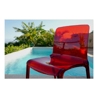 The red plastic chair poster