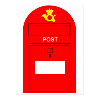 The Red Postbox Postcard
