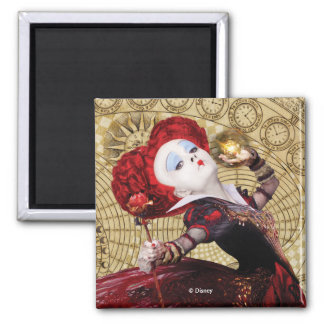 The Red Queen | Adventures in Wonderland Square Magnet