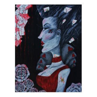 The Red Queen Original Art Wonderland Postcard