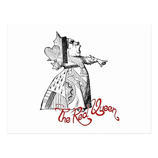 The Red Queen Post Card