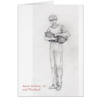 The Red Ring: Aaron and Book notecard Note Card