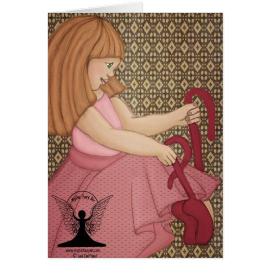 The Red Shoes Fairy Tale Card