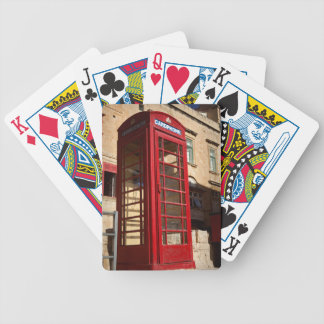 The red Telephonebox Bicycle Playing Cards