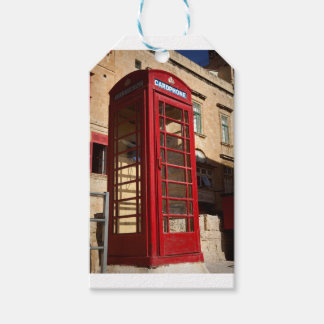 The red Telephonebox Gift Tags