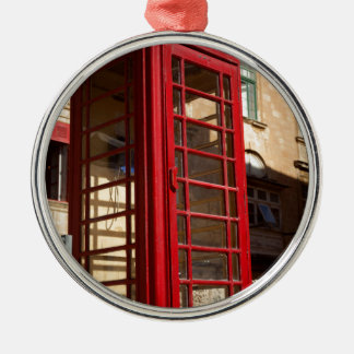 The red Telephonebox Metal Ornament
